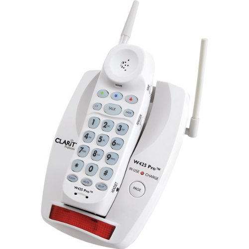 Clarity Professional W425 Pro Extra Loud Big Button Cordless Telephone Super Bright Visual Ringer
