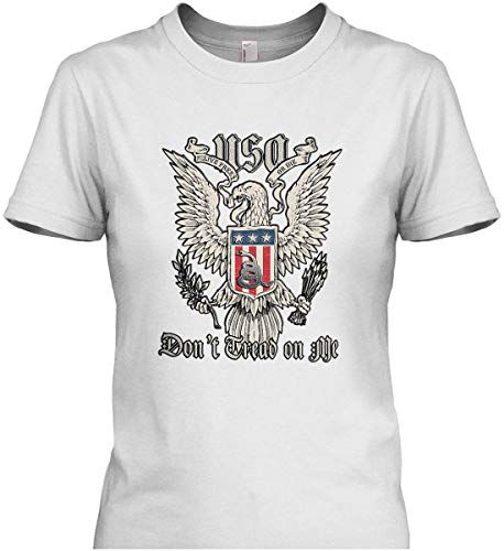 Don't Tread on Me. Eagle with Shield and RATT Womens White/2XL T-Shirt
