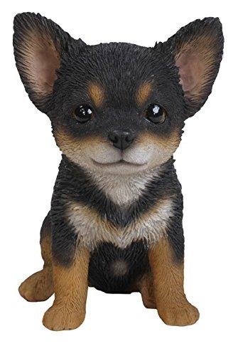 かわいい チワワ 置物 ハイラインギフト Hi-Line Gift Ltd Chihuahua Puppy Statue, Black/Brown B01BXBRGQAブラック/ブラウン