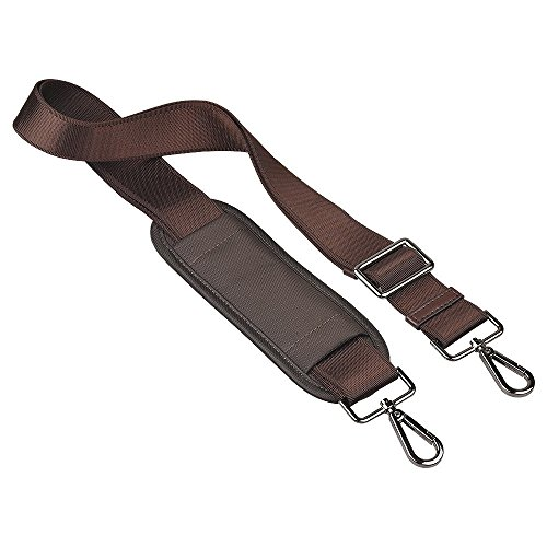 (Qishare 59 Inch Universal Replacement Shoulder Strap Pet Carrier Strap Adjustable Belt with Metal Swivel Hooks for Luggage Duffel Computer Bags Laptop Case (Brown))