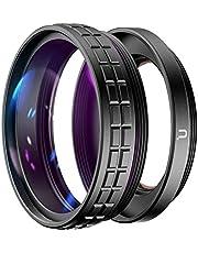 Ulanzi WL-1 Macro Lens Groothoek Adapter Ring, 2-in-1, 52 mm geschikt voor Sony ZV1 Camera Fotografie Accessoires, Lens voor Vlog voor Digitale Camera (WL-1)