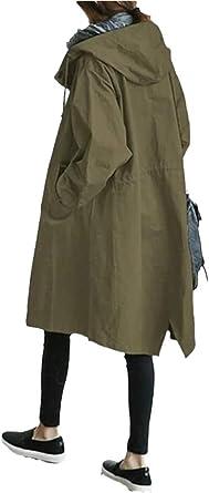 Amazon.com: Women's Classic Oversized Hooded Windbreaker Rain Jacket Loose Coat Trench Coat Plus Size: Clothing