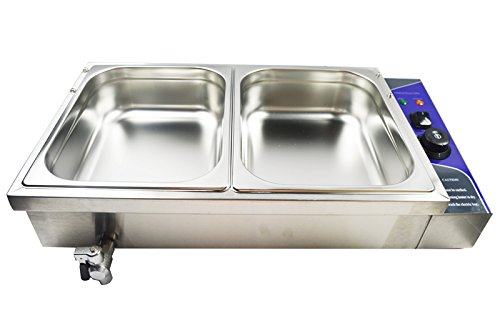 Bain-marie Buffet Food Warmer 110v 2-well,pots,pans Home Restaurant Steam Table