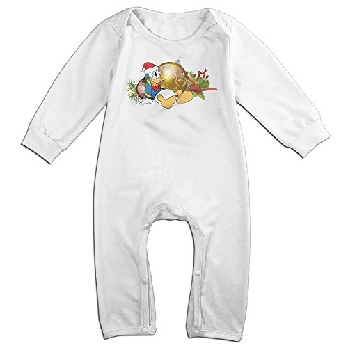 VanillaBubble Donald Duck And Christmas For 6-24 Months Boys&Girls New Design Long Sleeved Tee White Size 12 (Dallas Cowboy Toddler Halloween Costume)
