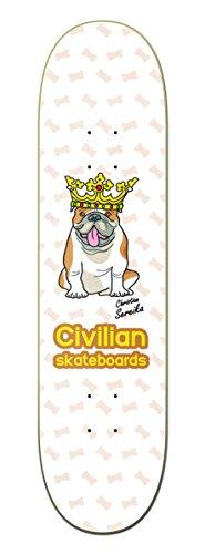 CIVILIAN SKATEBOARDS Pro Model/Christian Sereika Bull Dog Skateboard Deck 8.25