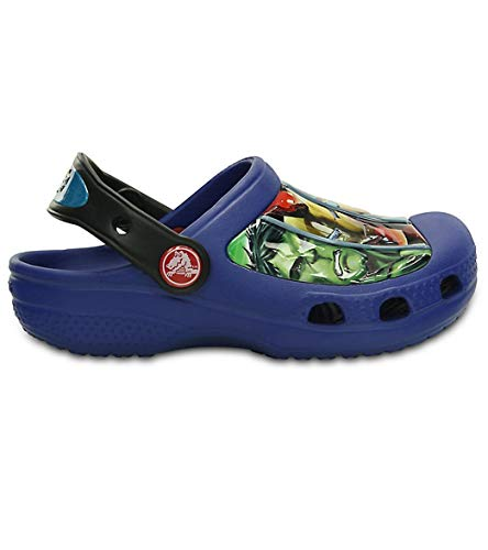 Image of crocs Marvel Avengers III Clog (Toddler/Little Kid),Cerulean Blue,  4-5 M US Toddler