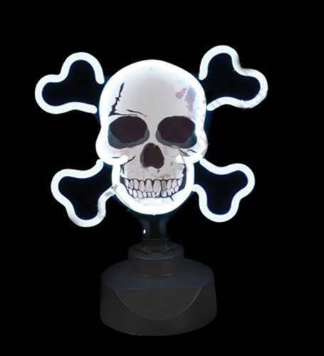 Skull & Crossbones Neon Light JOLLY ROGERS *GREAT FOR MAN ()