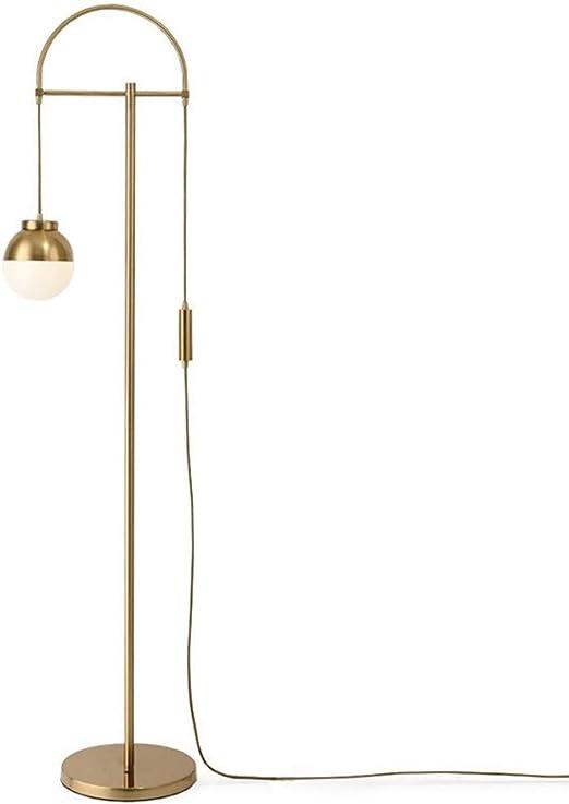 Lámparas de Pie Lámpara de Piso Luz de Pie LED del Metal del Oro Moderna Lámparas