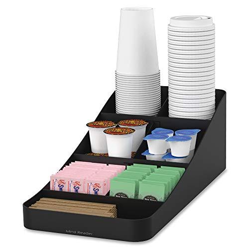Mind Reader Trove Coffee Condiment Organizer, One Size, Black