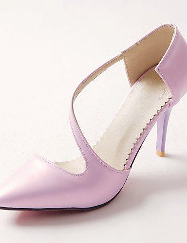 GGX/ Damenschuhe-High Heels-Kleid-Kunstleder-Stöckelabsatz-Absätze / Spitzschuh-Grün / Lila / Beige purple-us10.5 / eu42 / uk8.5 / cn43