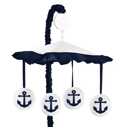 Anchors Nautical White Musical Mobile product image