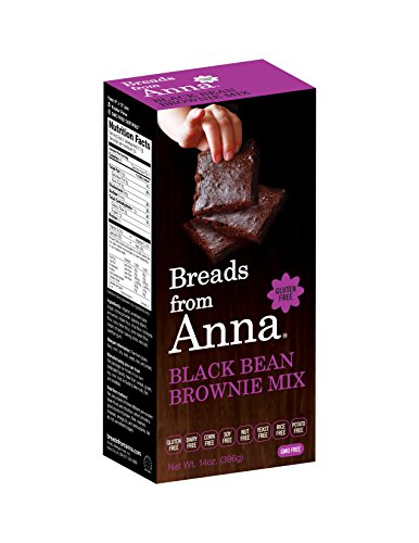 Breads from Anna, Gluten-Free Mix, Black Bean Brownie, 14-Ounce Package by Breads From Anna