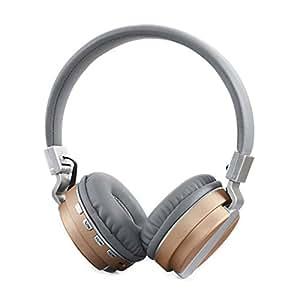 Hanbaili Auriculares bluetooth V4.2, auriculares inalámbricos/con cable sobre el oído Auriculares plegables con micrófono para iPhoneX Computer Coffee