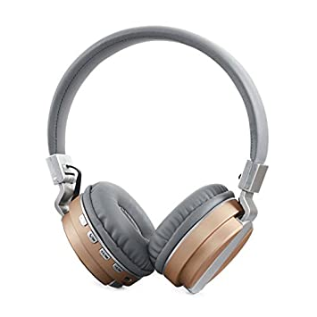 Hanbaili Auriculares bluetooth V4.2, auriculares inalámbricos/con cable sobre el oído Auriculares plegables con micrófono para iPhoneX Computer Coffee: ...