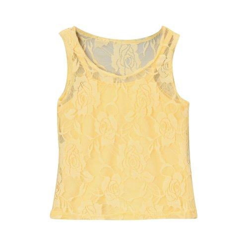 Yellow Girls Lace Tank & Camisole, Size 4
