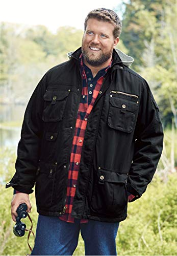 Boulder Creek Men's Big & Tall Multi-Pocket Lined Twill Jacket