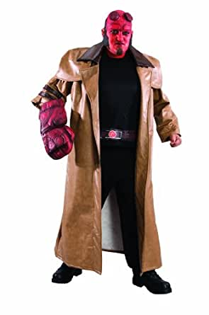 Hellboy II: The Golden Army: Adult Plus Size Hellboy Costume, Brown, Plus