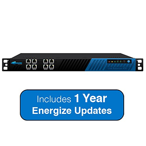 Barracuda Networks 430 Link Balancer 250Mbps Throughput with 7 Internet Link Connections - Includes 1 Year Energize Updates -