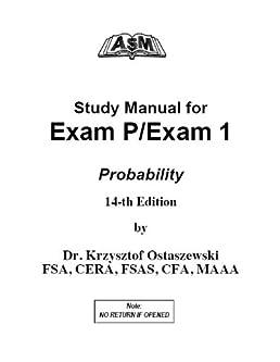 asm soa study manual for exam p 14th edition krzysztof ostaszewski rh amazon com asm study manual exam p download Ritter Exam Table Manual