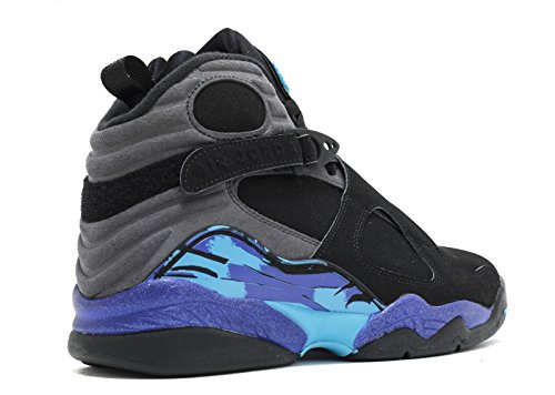 Nike Air Jordan Mænds 8 Retro Basketball Sko Blk, Tr Rd-flnt Gry-brght Cncrd