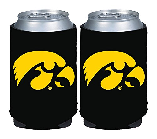 NCAA Iowa Hawkeyes Magnetic Kolder Kaddy, 2-Pack, Black ()