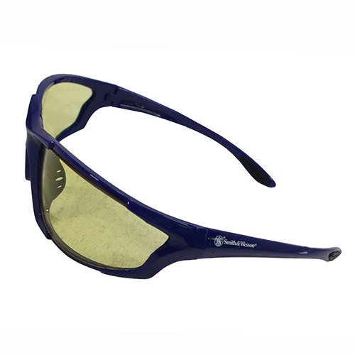 Smith & Wesson Accessories Major Full Frame Shooting Glasses Blue with Amber (Glasses Amber Lens)