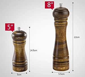 Manual style pepper, black pepper, spices grinding bottle or cruet (8Inch)