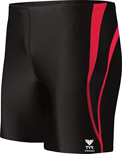 - TYR Sport Men's Alliance Durafast Splice Square Leg Swim Suit (Navy/Red, 36)