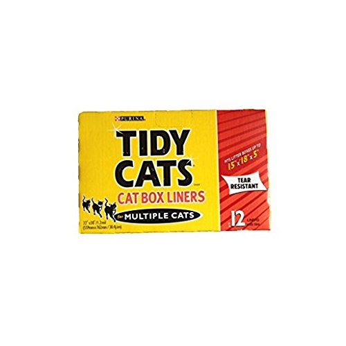 Tidy Cats Cat Box Liners for Multiple Cats - 12 Liners