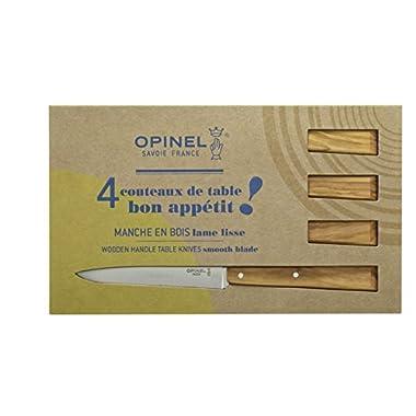 Opinel South Spirit Set of 4 Olivewood Handled Steak Knives 001515