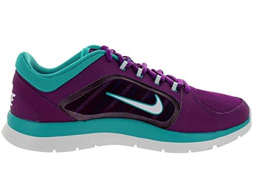 Nike Frauen Flex Trainer 5 Schuh Brgg Grp / Weiß / Trb Grn / Trb Grn