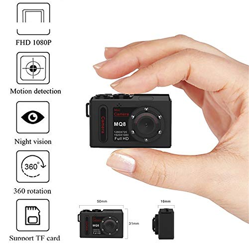 Price comparison product image KUNAW Full HD 1080P Mini Car DV DVR Camera Camcorder Dashcam IR Night Vision Camco Motion Detection ; 2-Way Audio ; Night Vision ; Home Surveillance Monitor for Baby / Pet / Elder