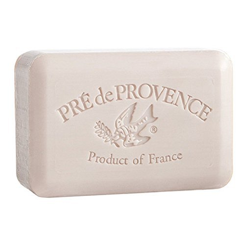 Pre de Provence, Amande (Almond), Set of 2 Bars, Shea Butter Enriched Handmade French Soap Bath Bars, 150 Grams (5.3 oz) Each