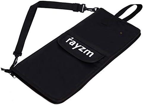 Rayzm Bolsa (Funda) para Baquetas de Batería con un Bolsillo Externo, con una Manija para llevar y Ganchos de Tom Hooks, Dentro 4 Bolsillos para Guardar hasta 12 Pares de Baquetas.: Amazon.es: