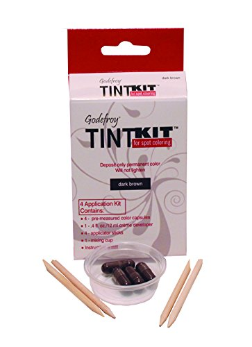 Godefroy 4 Applications Tint Kit, Dark Brown, Packaging May Vary
