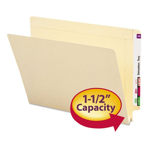 - Smead 1 1/2 Inch Expansion Folders, Straight End Tab, Letter, Manila, 50/Box