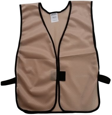 Khaki Tan Color Safety Vests - Soft Mesh Plain Material - Texas America Safety Company ...