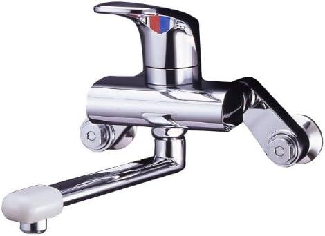 ミズタニバルブ 【キッチン用混合栓】 壁付シングルレバー水栓 メッキレバー MK300DX