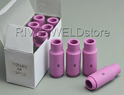- TIG Alumina Nozzles Ceramic Shield Cup 10N48 6# Fit DB PTA SR WP 17 18 26 TIG Welding Torch 10pk