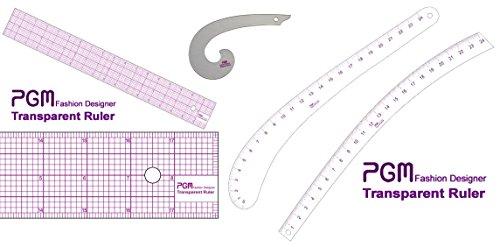 - 5 Style Fashion Ruler Set PGM Vary Form Curve French Curve Pattern Grading Rulers Curve Stick Pattern Design Ruler Set