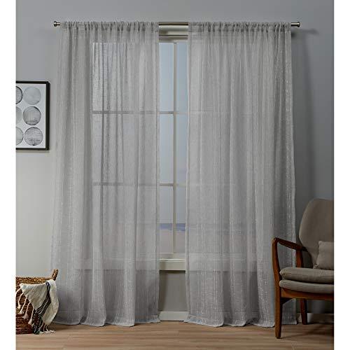 Exclusive Home Curtains Itaji Panel Pair, 54x84, Silver (Luxury Pergola Designs)