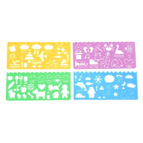 4 Stücke Kunststoff Malen Zeichenlineal Malschablonen Schablonen Ausmahlen de