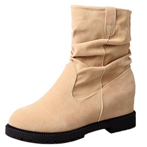 CarziCuzin Women Casual Low Heel Heel Heel Pull On Boots Shoes B075L9L4LP Shoes f0206d