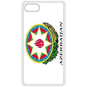 Azerbaijan Coat Of Arms Flag Emblem White Apple Iphone 5 Cell Phone Case - Cover