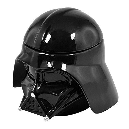 Star Wars Darth Vader Design Ceramic Cookie/Biscuit Jar (One Size) (Black)
