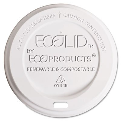 ECPEPECOLIDW - Hot Cup Lid, 10-20 Oz, White