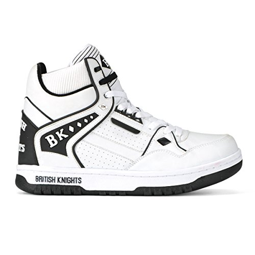 British Knights Director HI Men's Hi-Top SneakerWhite/Black, 8.0