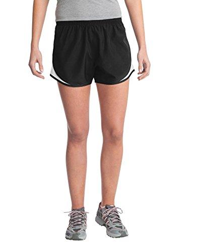 Sport-Tek - Shorts - para mujer Multicolor negro/blanco/negro XXXX-Large