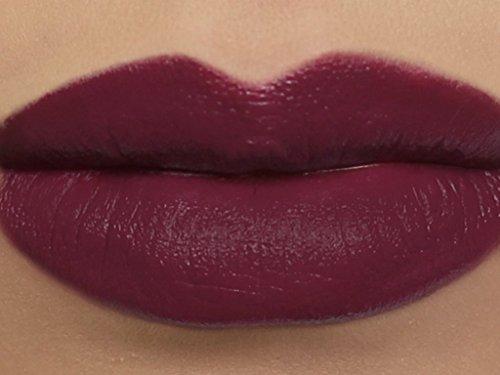 "Matte Vegan Lipstick in shade""Delphyne"" - deep plum wine"