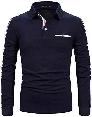 STTLZMC Casual Polo Hombre Mangas Largas Slim Fit Camisetas ...